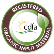 Humic DG and Black Gypsum DG are certified as Organic Input Material in California